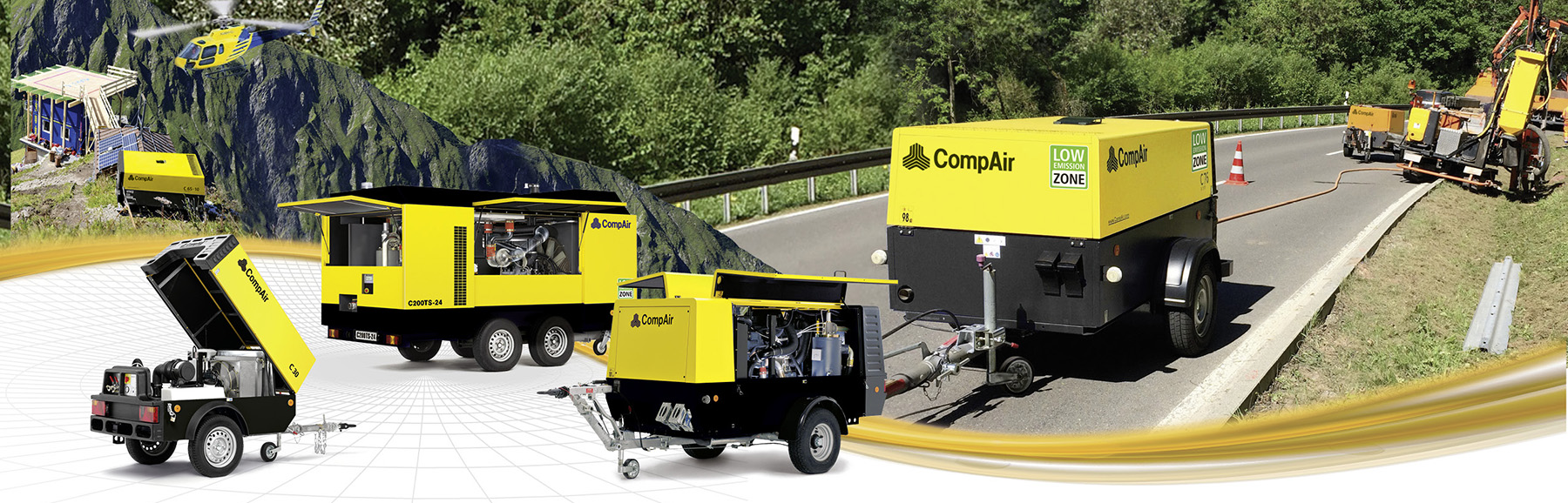 Towable compressors page header