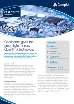 continental gives the green light for new quantima technology