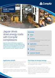 jaguar drives down energy costs with CompAir
