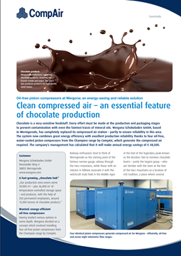 Clean Compressed Air Essential To Chocolate Production