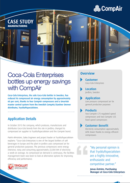 Coca-Cola Enterprises bottles up energy savings with CompAir