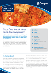 Coca Cola Icecek takes on oil-free compressor