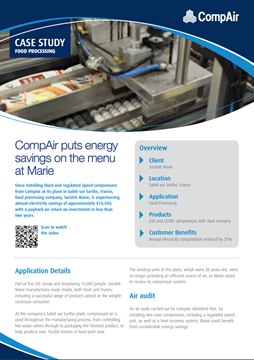 CompAir Case Study Food processing Societe Marie