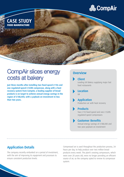 CompAir Case Study Food Manufacture leading UK bakery