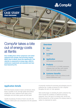 CompAir Case Study Food Processing Ifantis