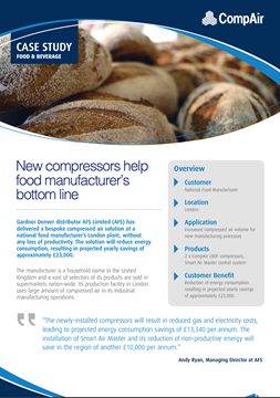 CompAir Case Study Good and Beverage National Food Manufacturer