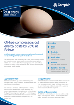 CompAir Case Study Food and Beverage Belovo