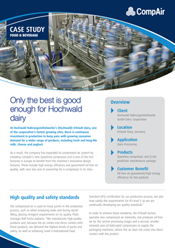 compAir Case Study Food and Beverage Hochwold Nahrungsmittelwerke GmbH