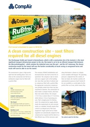 A clean construction site - soot filters required for all diesel engines