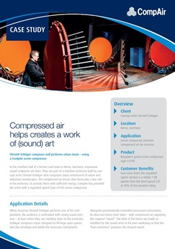 Compressed air helps creates a work of sound art