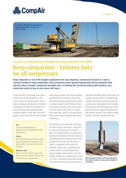 Deep compaction - Extreme Duty for all compressors