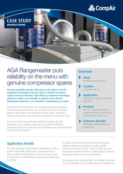 AGA Rangemaster puts reliability on the menu with genuine compressor spares