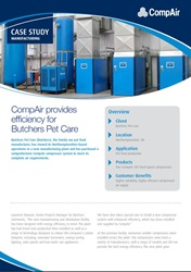 CompAir provides efficiency for Butchers Pet Care