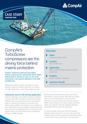 CompAir TurboScrew compressors are the driving force behind marine protection