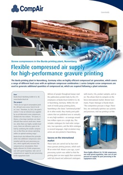 Flexible compressed Air Supply for high-performance gravure printing