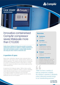 Innovative containerised CompAir Compressor saves Makevale more than 10000