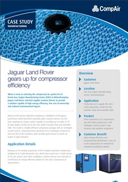 Jaguar Land Rover Gears up for Compressor Efficiency