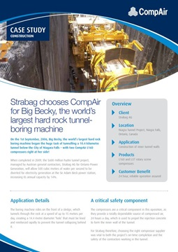 Strabag chooses Big Becky the worlds largest hard rock tunnel boring machine