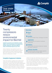 Twenty compressors reduce environmental impact for Bechtel