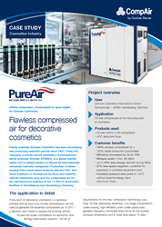 Cosmetics case study for oil-free compressed air