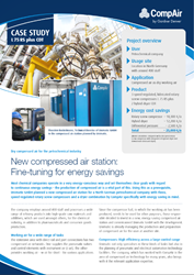 Compressed Air Station Fine Tuning for Energy Savings