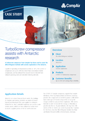TurboScrew Compressor Assists With Antarctic Research