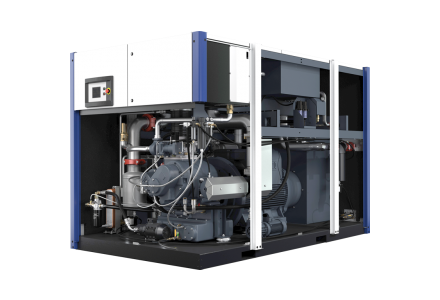 d series oilfree compressor machine inside the machine