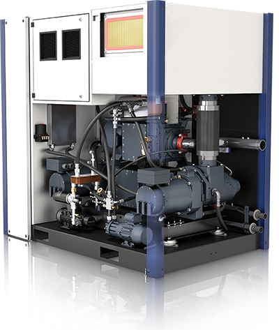 inside an ultima oilfree screw compressor
