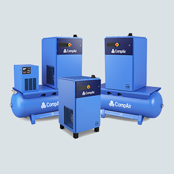 2.2 to 7.5 kW screw compressors