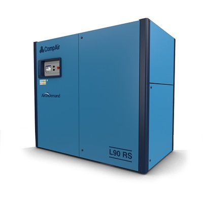 L90RS regulated speed lubricated screw air compressor (90kW)
