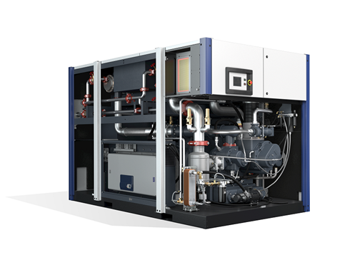 large oil free screw air compressor inside
