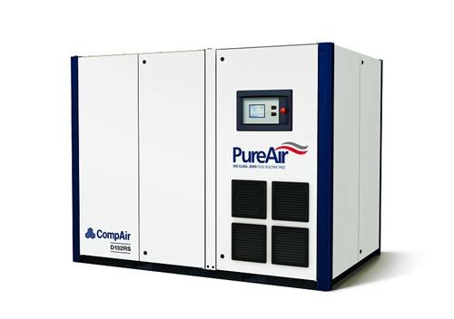 D132RS regulated speed oilfree screw air compressor (132kW)