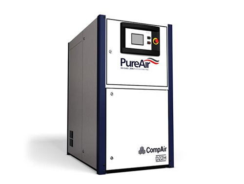 oil-free screw air compressor (22kW)